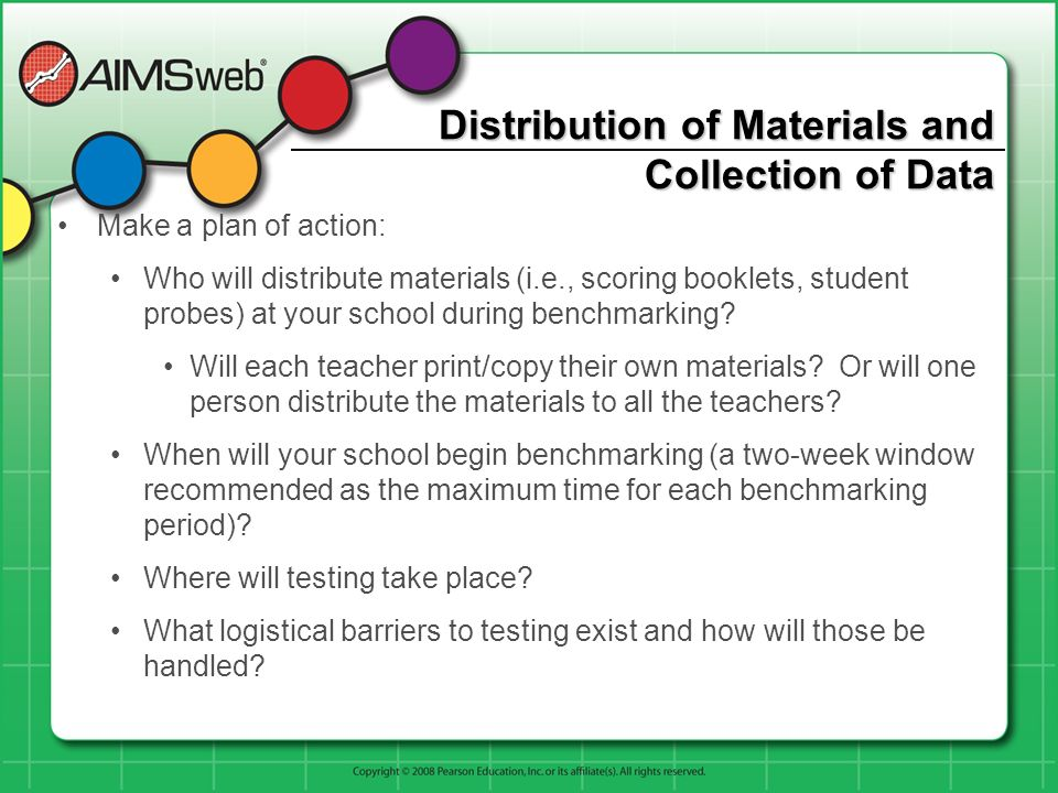 Distribution of Materials and Collection of Data