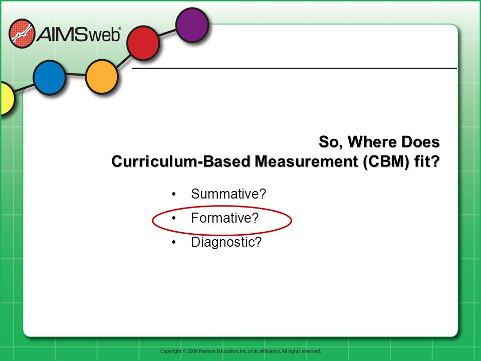 So, Where Does Curriculum-Based Measurement (CBM) fit