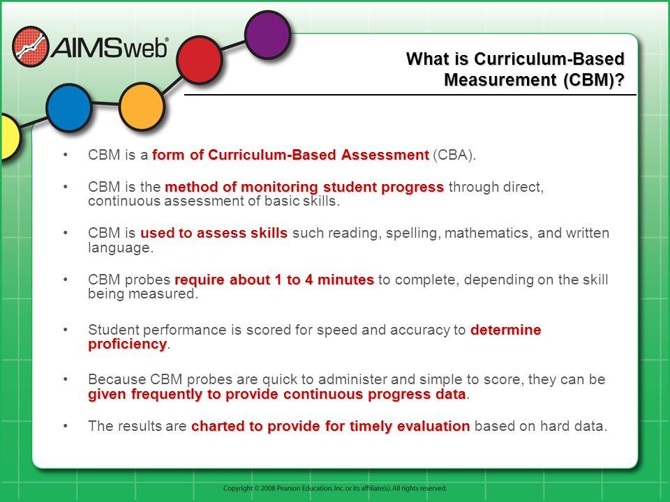 What is Curriculum-Based Measurement (CBM)