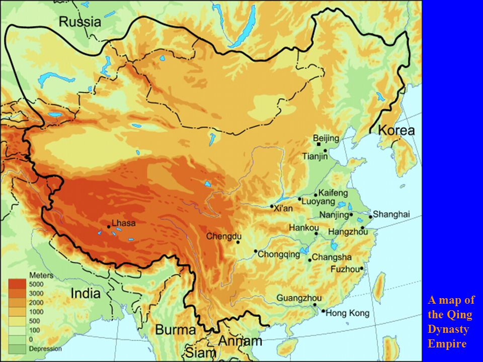 A map of the Qing Dynasty Empire