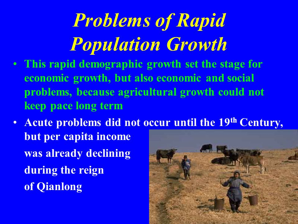 Problems of Rapid Population Growth