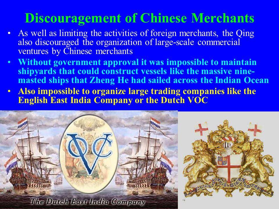 Discouragement of Chinese Merchants