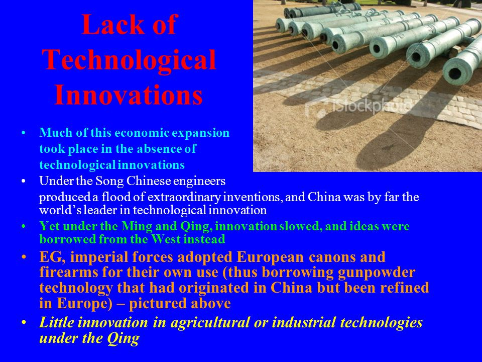 Lack of Technological Innovations