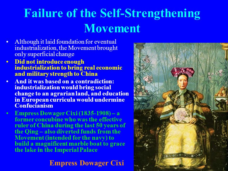 Failure of the Self-Strengthening Movement