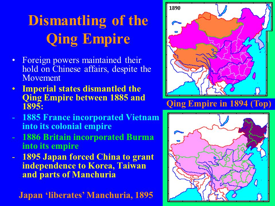 Dismantling of the Qing Empire