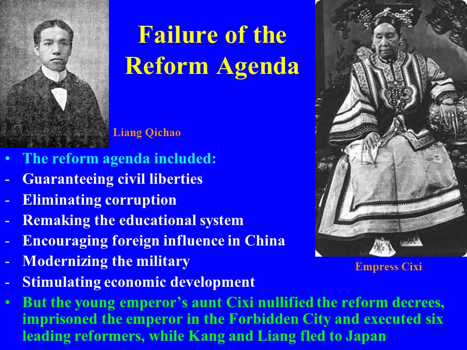 Failure of the Reform Agenda