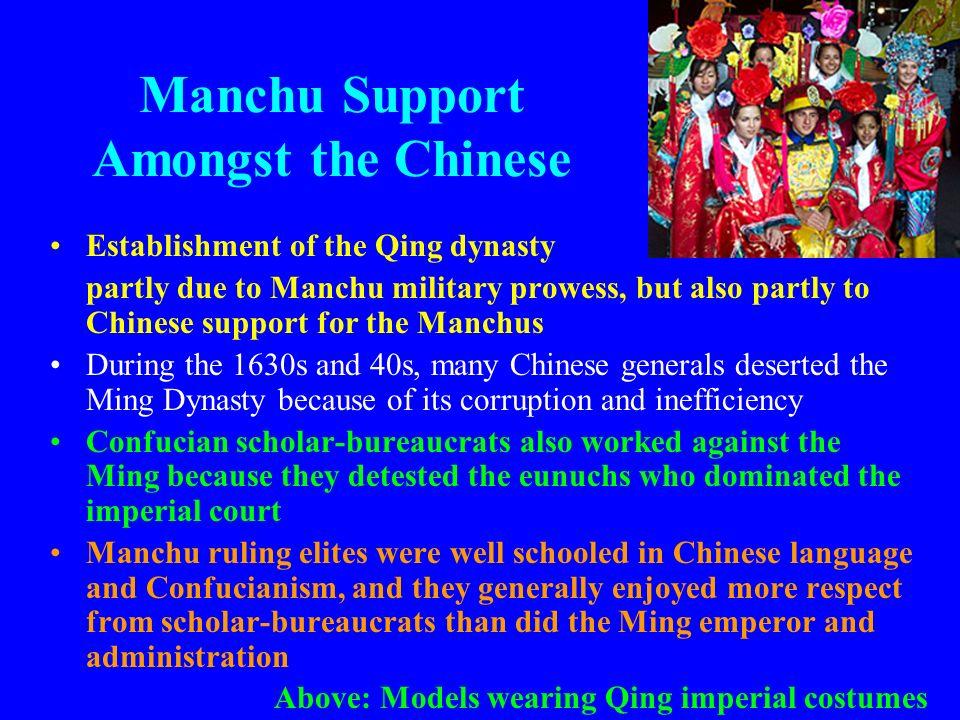 Manchu Support Amongst the Chinese