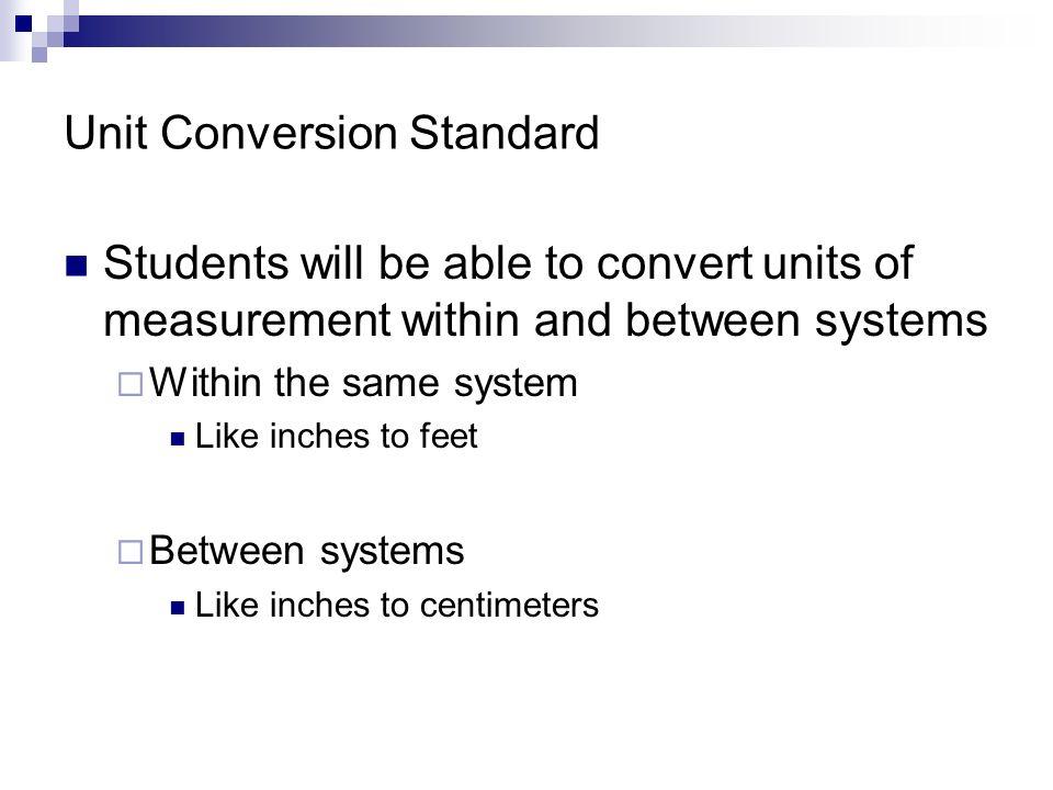 Unit Conversion Standard