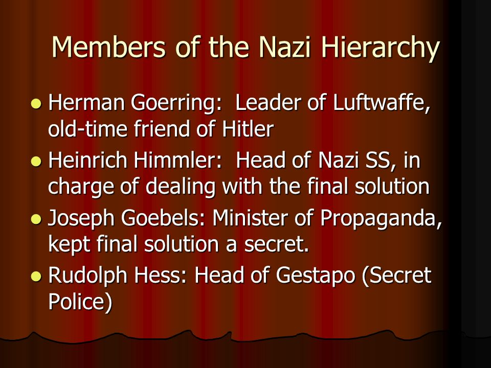 Members of the Nazi Hierarchy