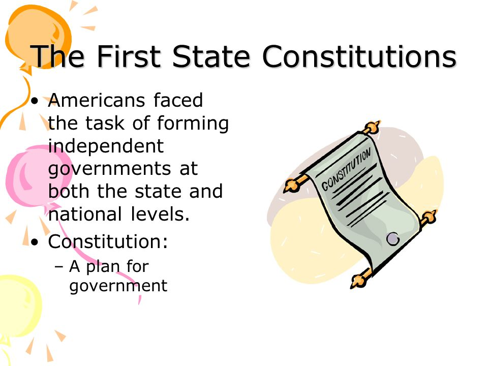 The First State Constitutions
