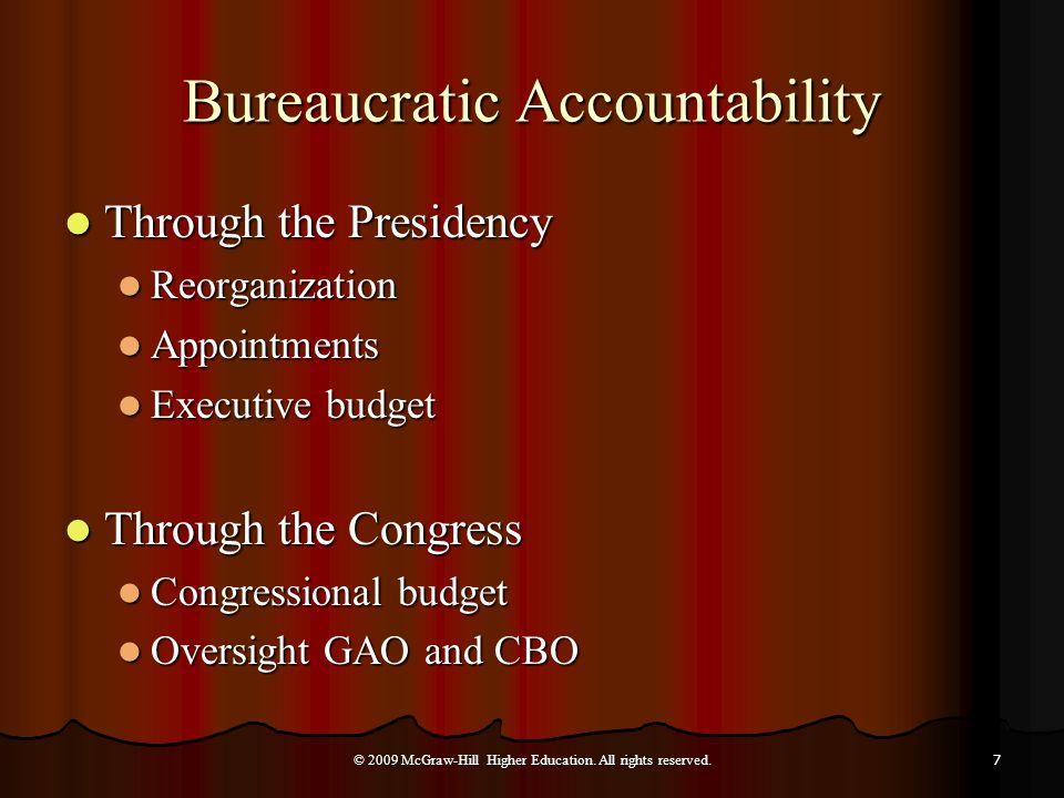 Bureaucratic Accountability