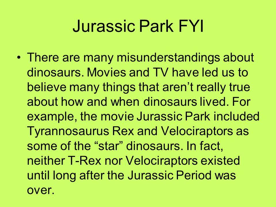 Jurassic Park FYI