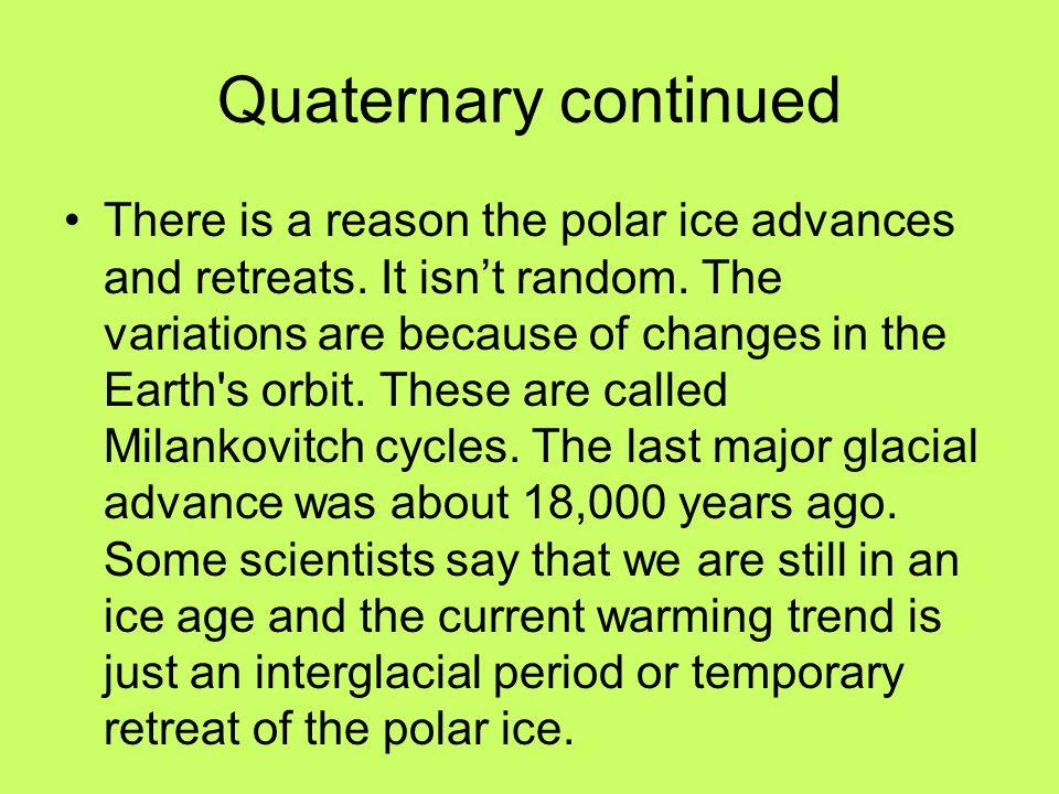 Quaternary continued