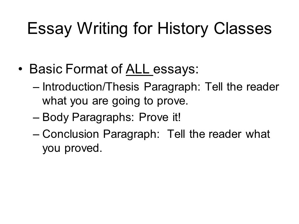 write introduction history essay In a history essay, your introduction paragraph should serve to give your reader  some historical  write an attention-grabbing lead to draw your readers in.
