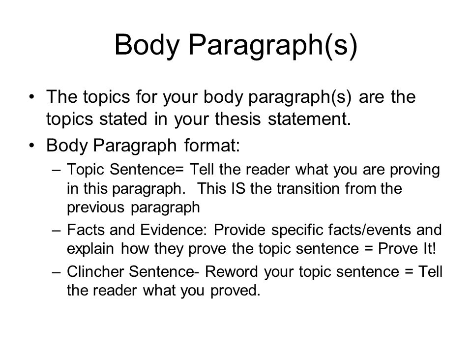 body image thesis