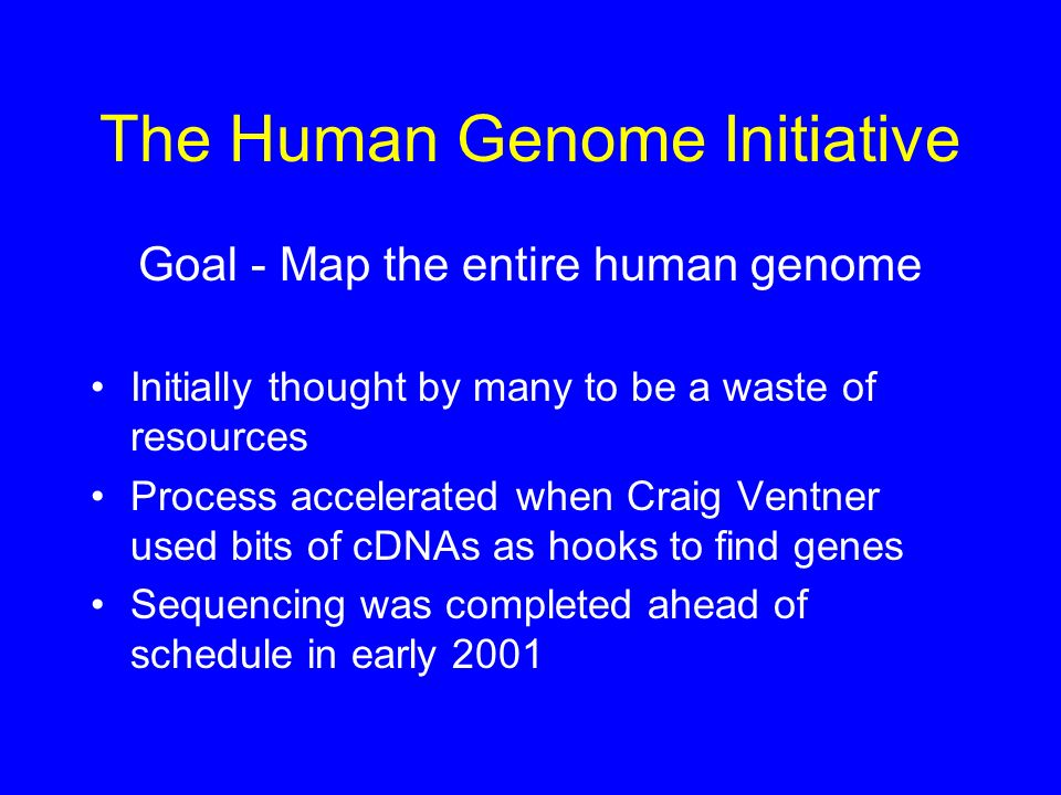 The Human Genome Initiative