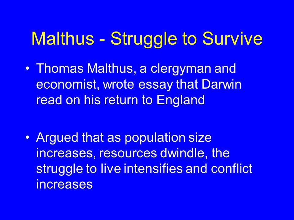 Malthus - Struggle to Survive