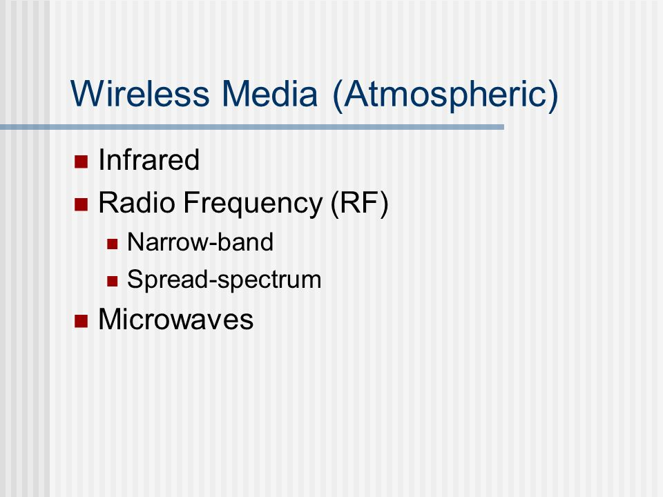 Wireless Media (Atmospheric)