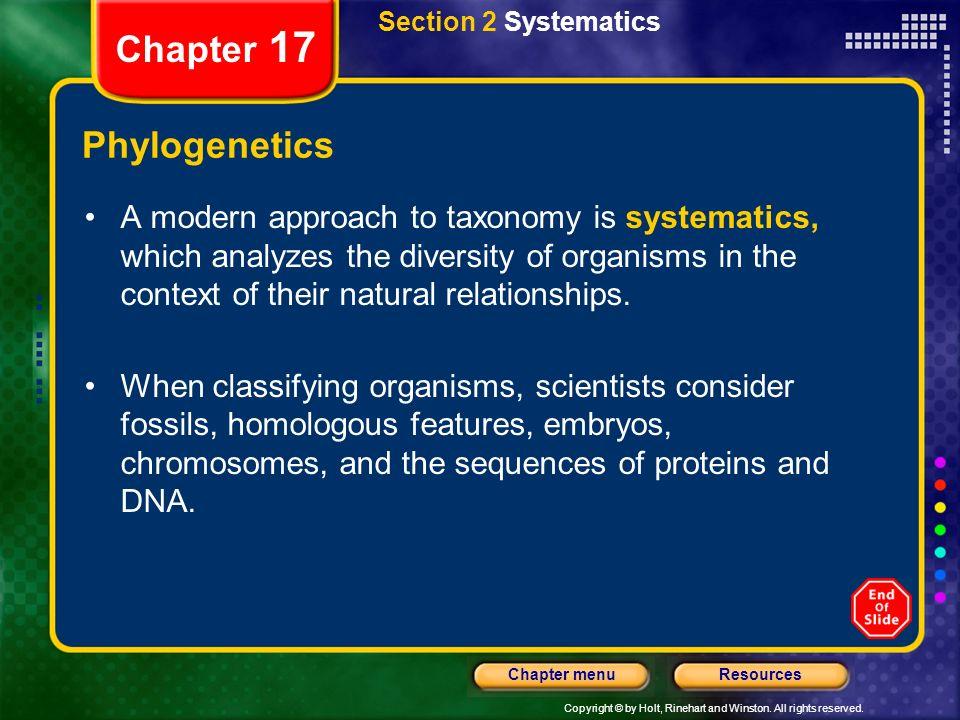 Chapter 17 Phylogenetics