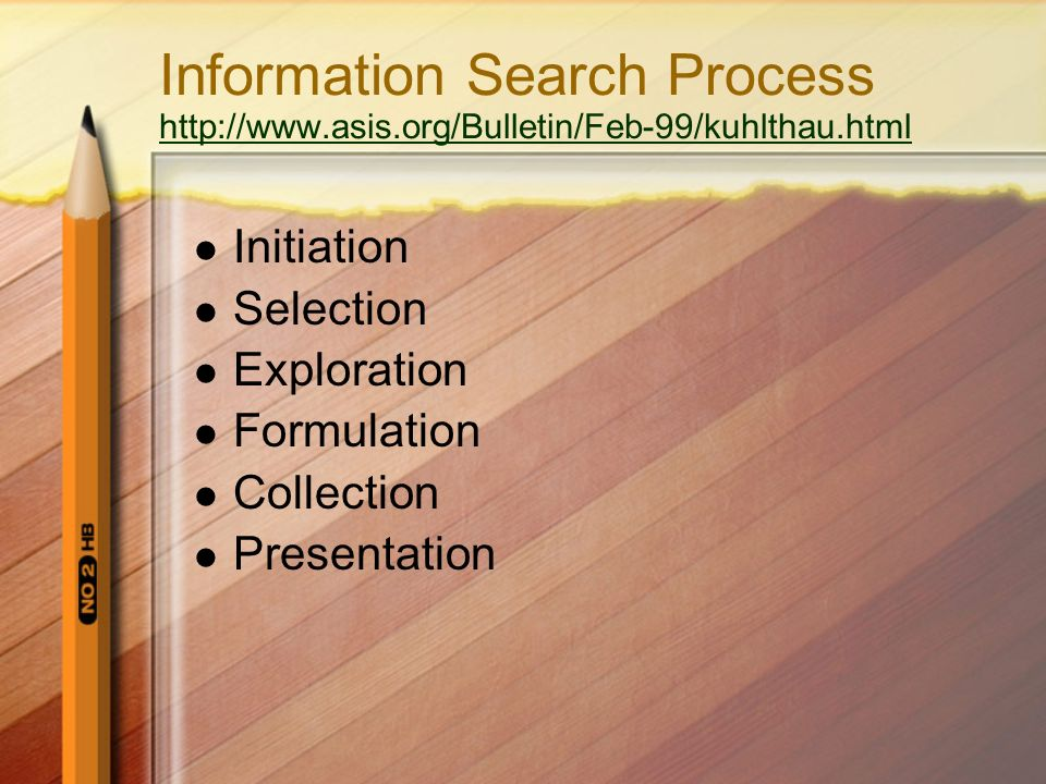 Information Search Process http://www. asis