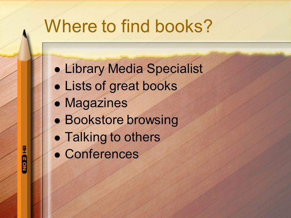 Where to find books Library Media Specialist Lists of great books