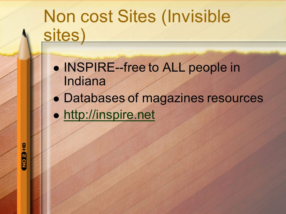 Non cost Sites (Invisible sites)