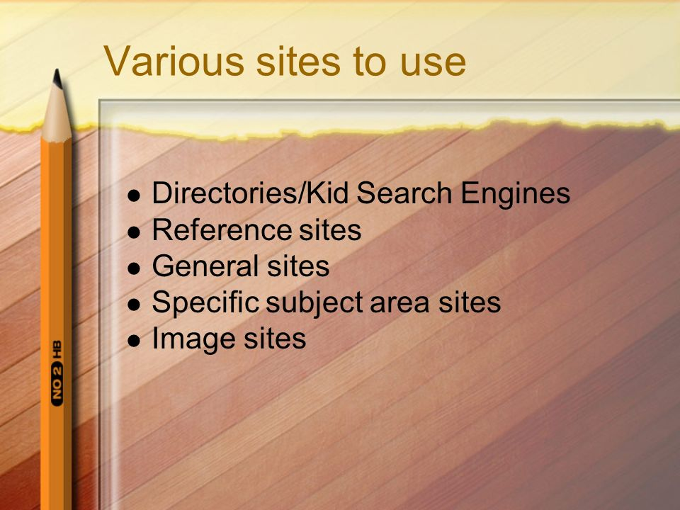 Various sites to use Directories/Kid Search Engines Reference sites