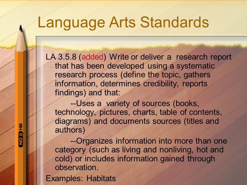 Language Arts Standards