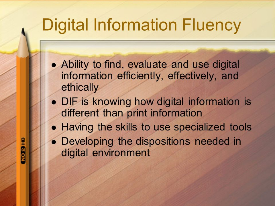 Digital Information Fluency