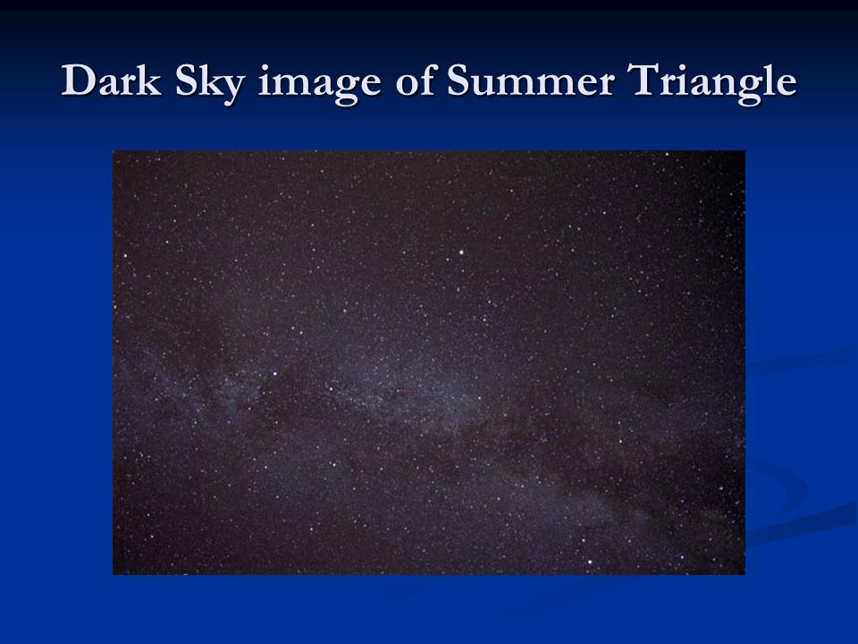 Dark Sky image of Summer Triangle