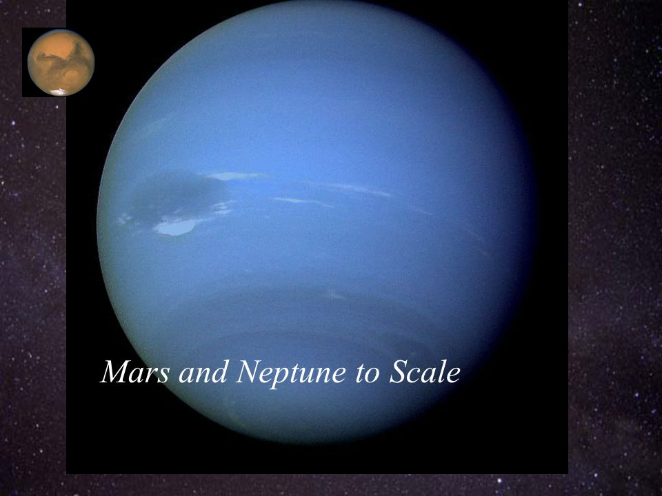 Mars and Neptune to Scale