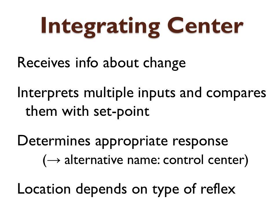 Integrating Center