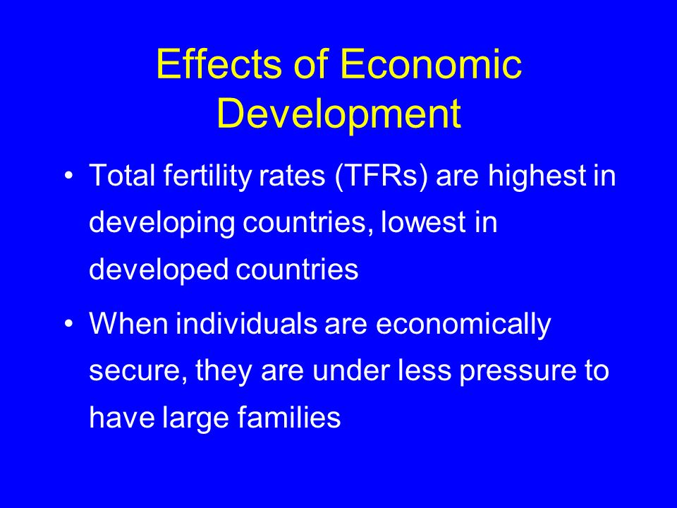 Effects of Economic Development