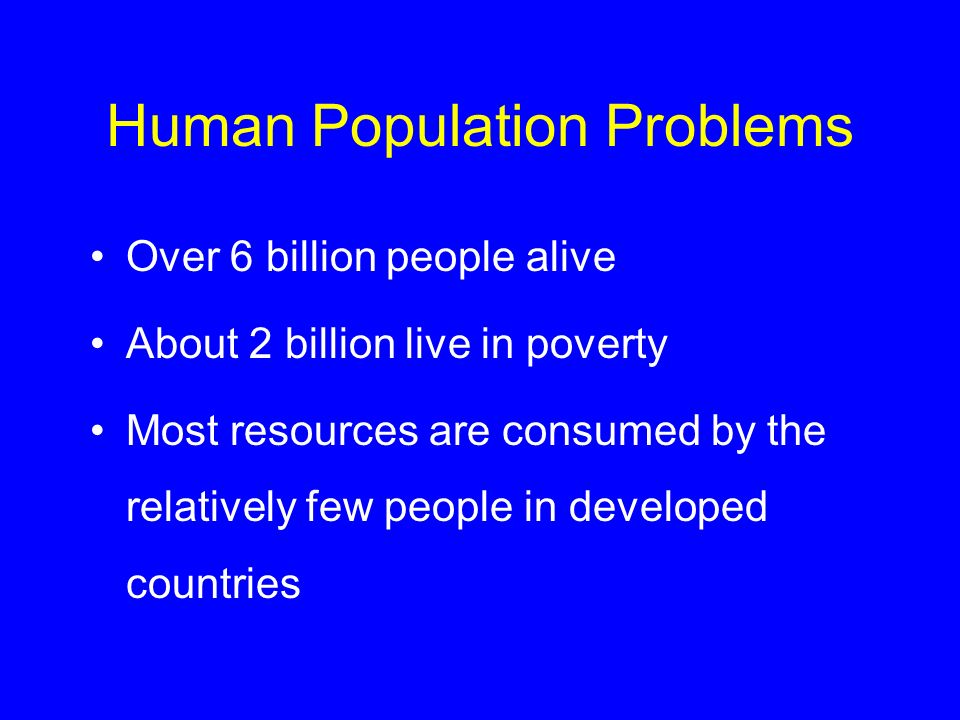 Human Population Problems
