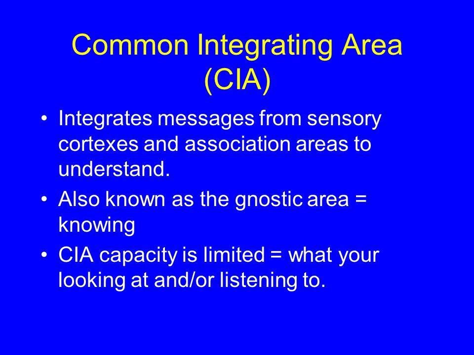 Common Integrating Area (CIA)