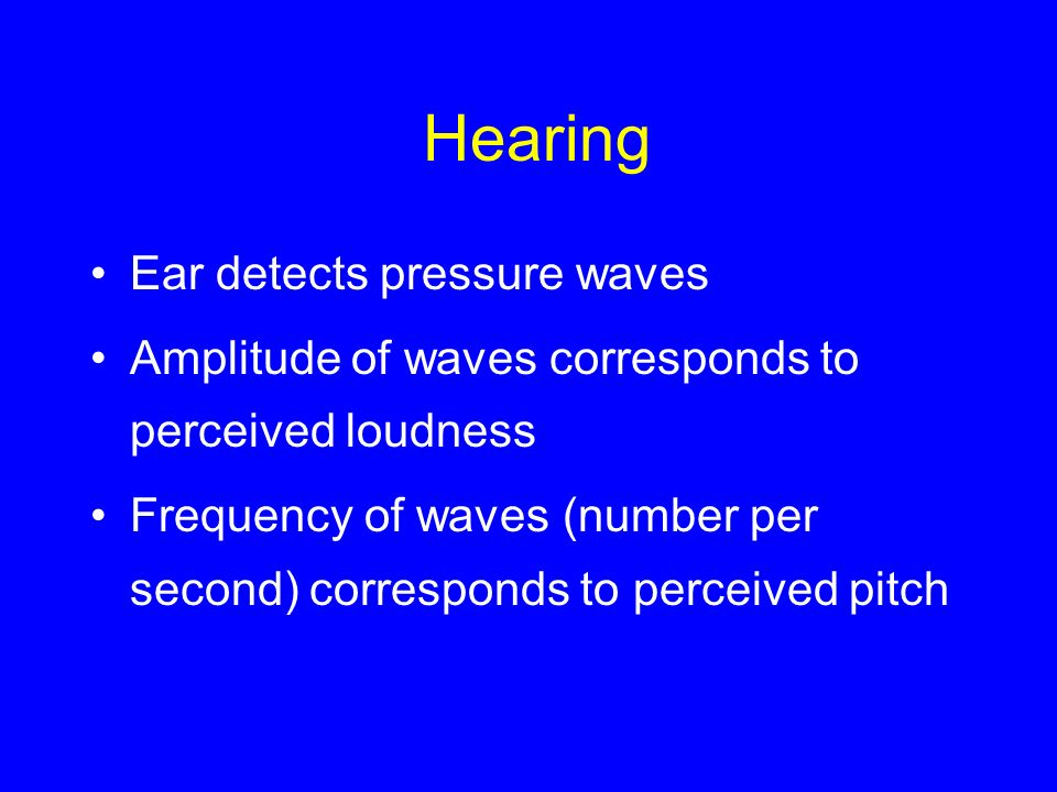 Hearing Ear detects pressure waves