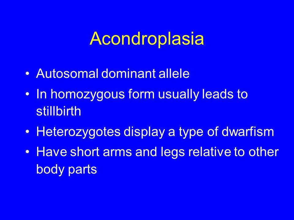 Acondroplasia Autosomal dominant allele
