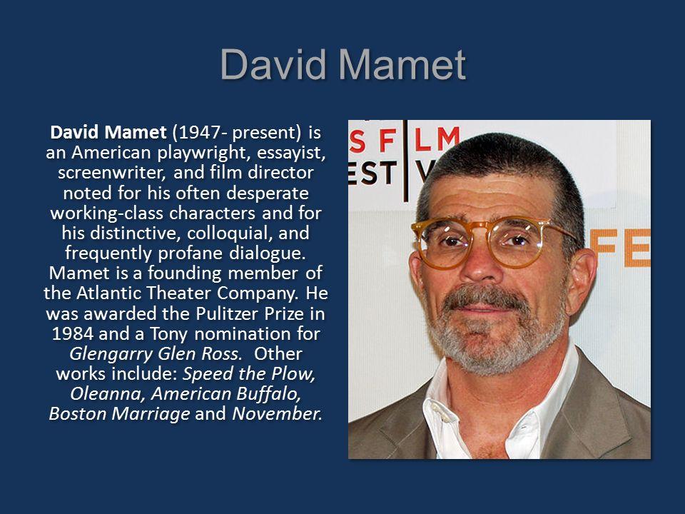 american buffalo david mamet pdf