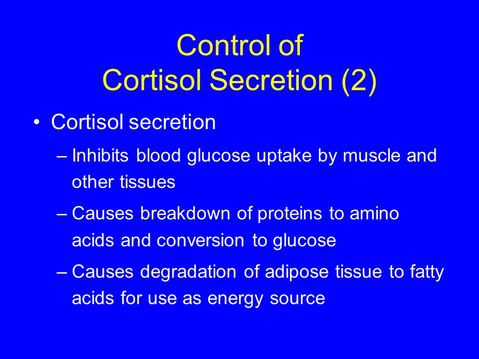 Control of Cortisol Secretion (2)