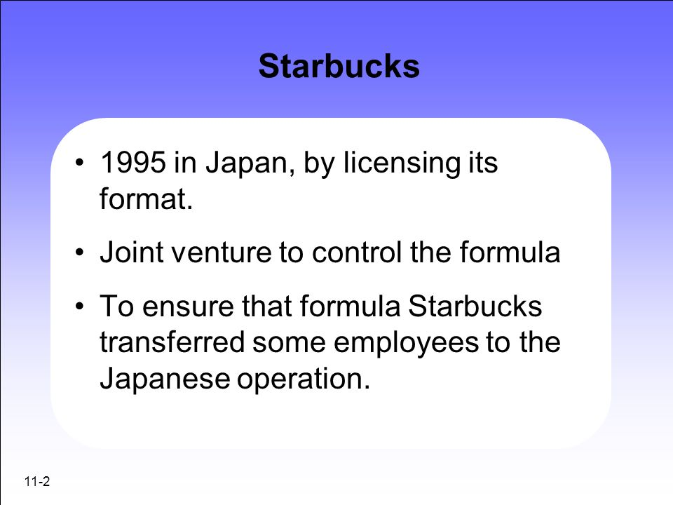 an analysis of the foreign direct investment on starbucks case