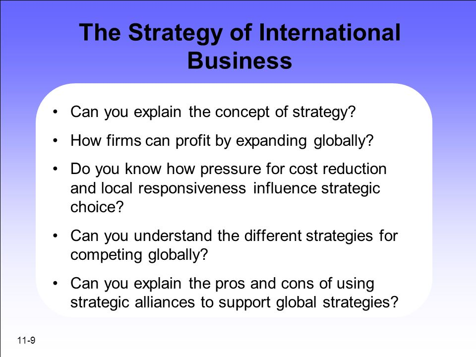 ppt the strategy of international business powerpoint presentation