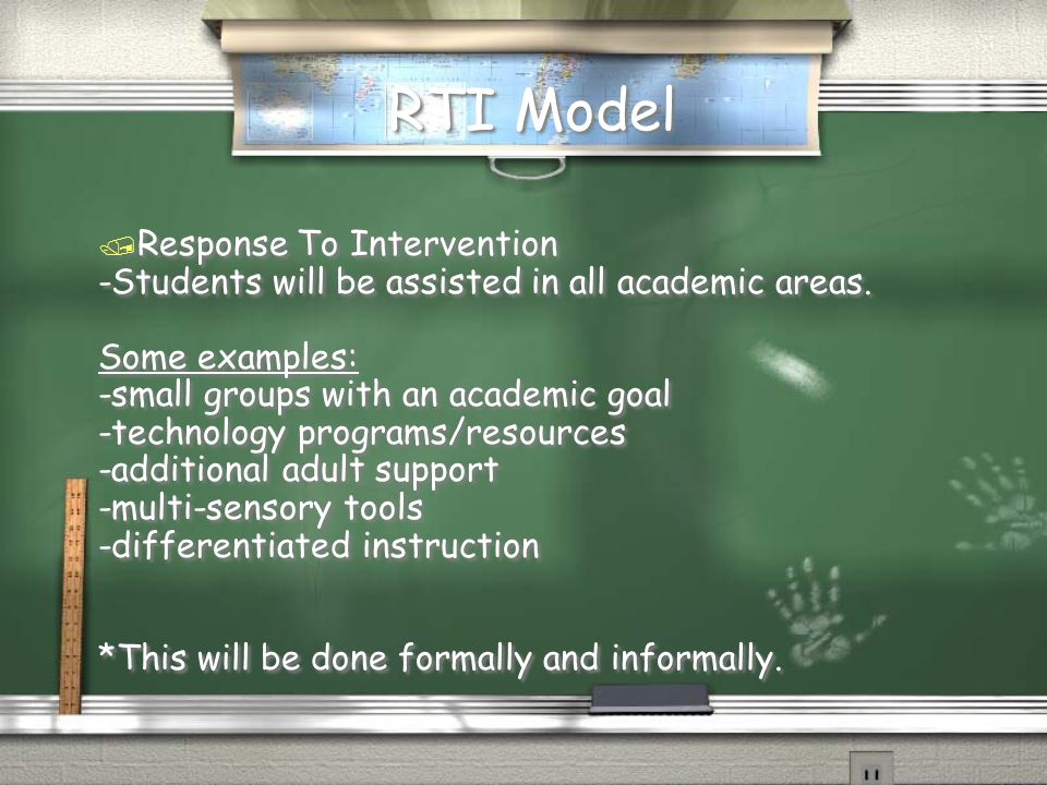 RTI Model Response To Intervention