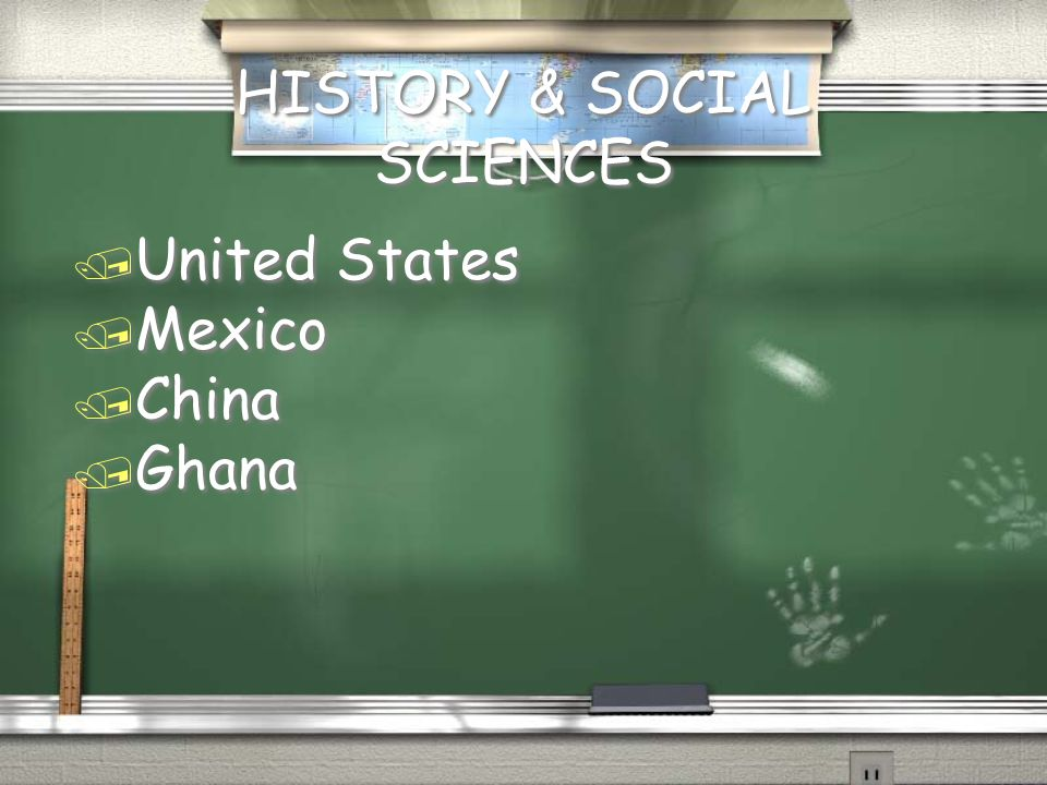 HISTORY & SOCIAL SCIENCES