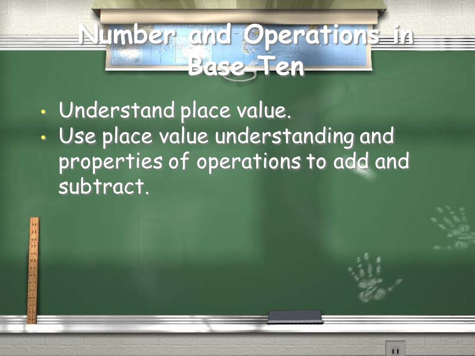 Number and Operations in Base Ten