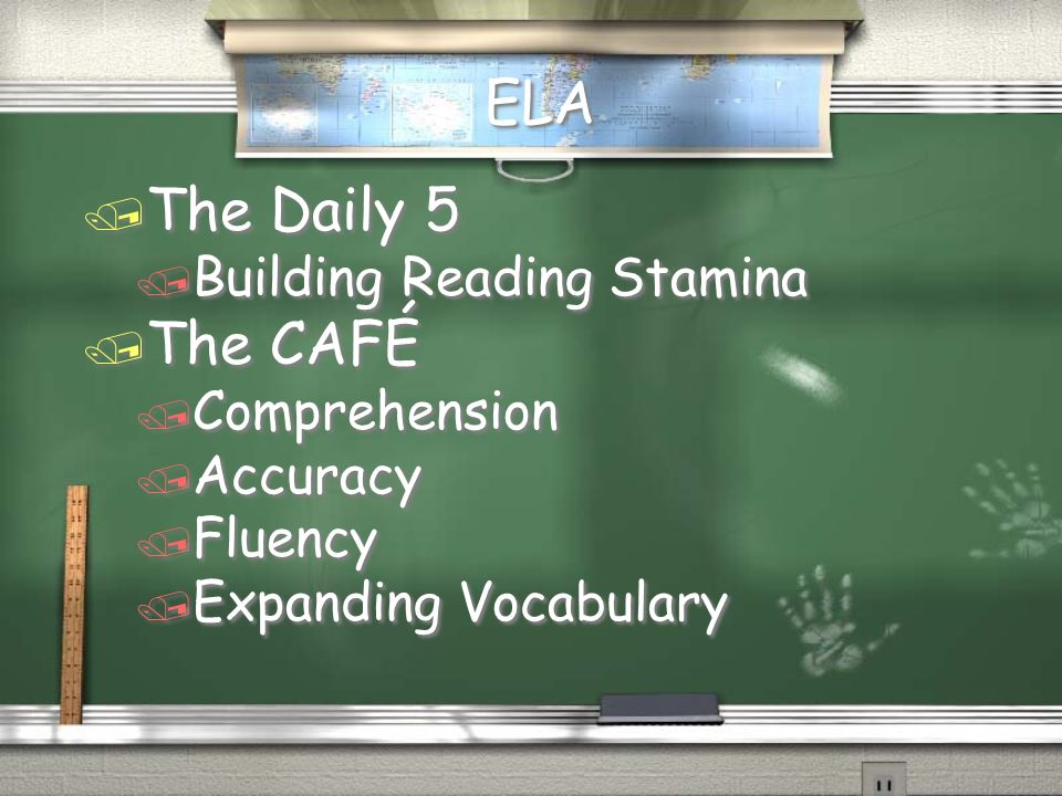 ELA The Daily 5 The CAFÉ Building Reading Stamina Comprehension