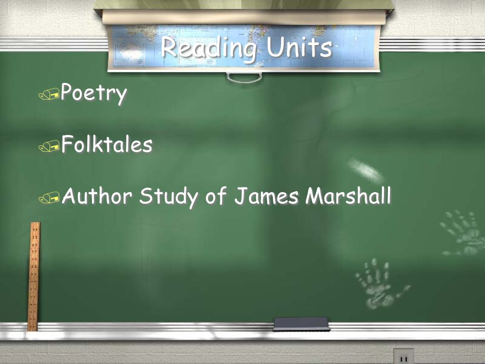 Reading Units Poetry Folktales Author Study of James Marshall
