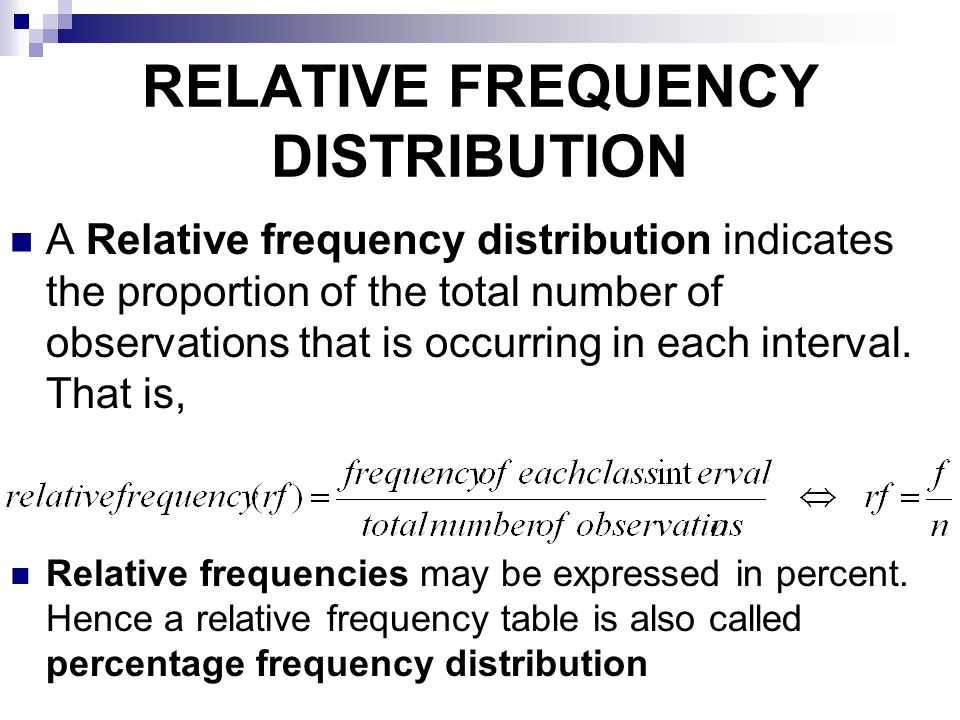 relative frequency Frequencies and relative frequencies alike can be used to construct histograms to quickly observe data sets in given populations find out how to calculate these here.