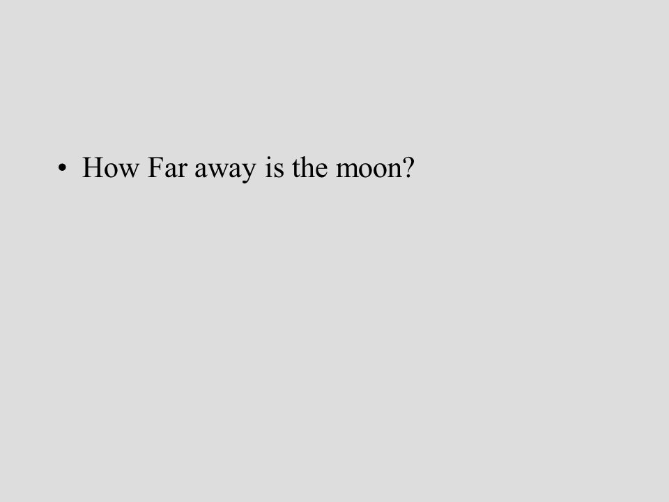 How Far away is the moon