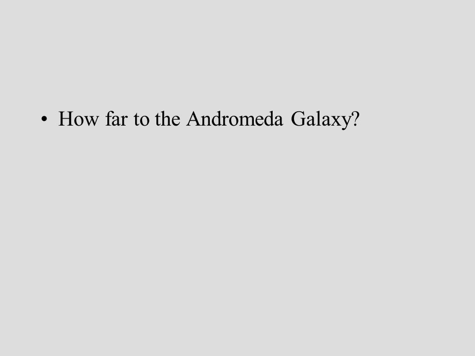 How far to the Andromeda Galaxy