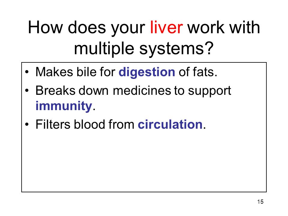 How does your liver work with multiple systems